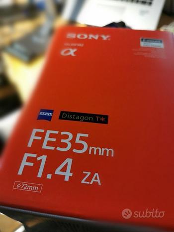 Sony FE 35 1.4 ZA zeiss distagon t