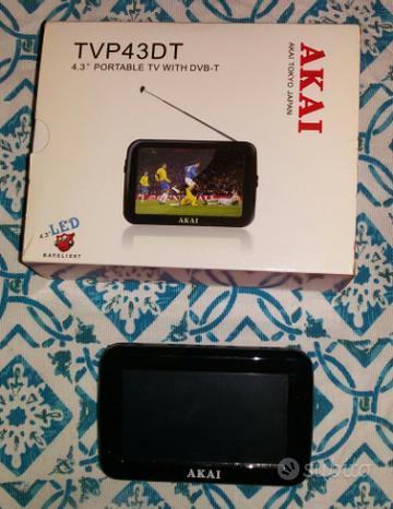 TV portatile AKAI con digitale(mod.TVP43DT)