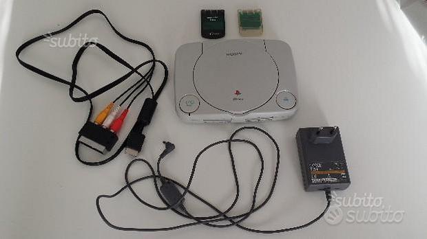 Console sony playstation 1 ps1 slim con accessori