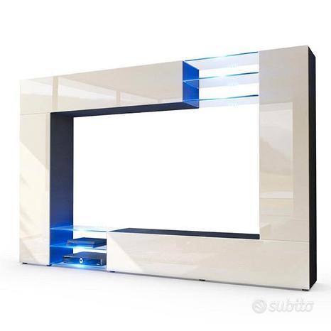 Wast. Parete porta TV moderno, mobile soggiorno in
