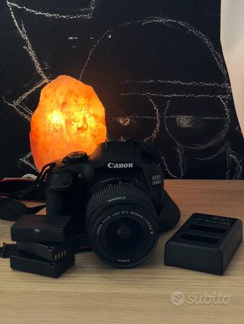 Canon EOS1300D body+obiettivo 18-55mm+ batterie