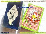SNOOPY Vintage 1980 2 Mazzi di Carte da Gioco NEW
