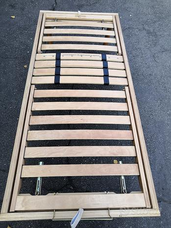 Rete legno doghe Corrado Materassi reclinabile
