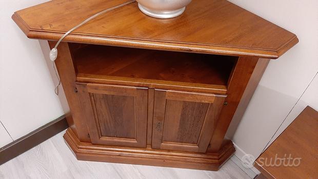 Mobile angoliera porta tv in legno
