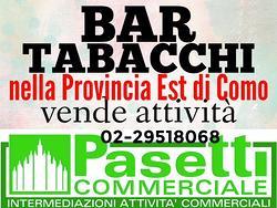 BAR TABACCHI RICEVITORIA provincia est di Como