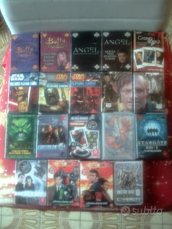 Carte poker da collezione vari film e serie,nuove