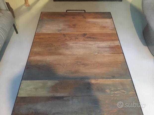 Tavolino industriale artigianale