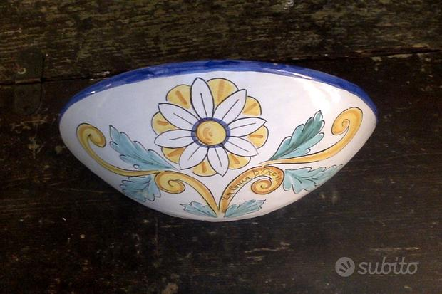 Lampada applique artigianali ceramica dipinta