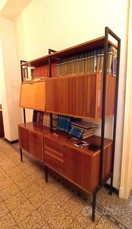 Mobile soggiorno libreria bar vintage anni 50
