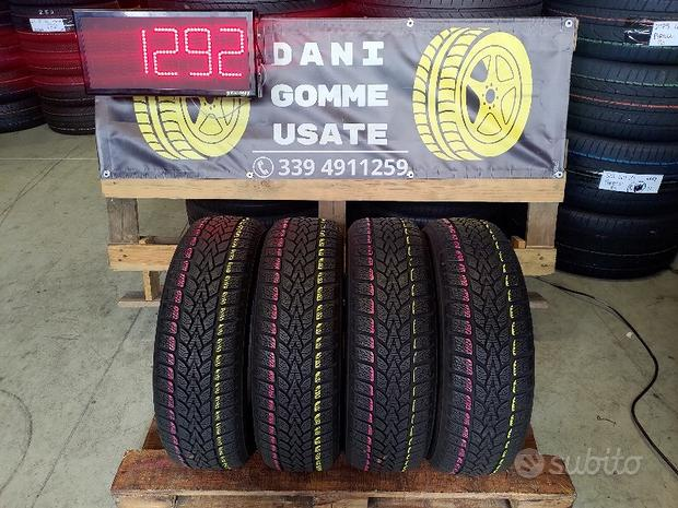 4 Gomme Usate 185 65 15 INVERNALI 75% DUNLOP