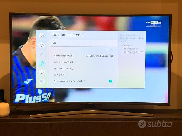 "SmartTV SAMSUNG 49"" 4K curvo, garanzia 11/2021"