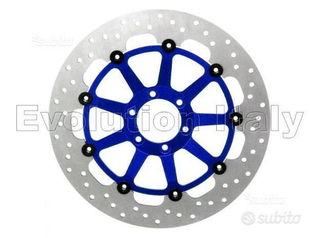 Disco Freno Rotondo Blu con nottolini Neri