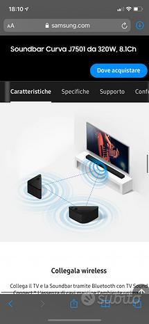 Soundbar Curva J7501 da 320W, 8.1Ch