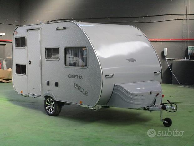 Caretta mini caravan 750kg nuova con 4 posti letto
