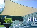 Tenda A Vela Quadrata Ombreggiante Parasole Beige