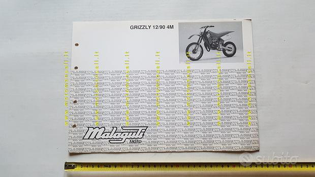 Malaguti 50 Grizzly 12 4M 1990 catalogo ricambi
