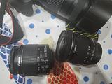 Fotocamera Canon Eos 1300d con 3 obiettivi