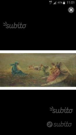 Preghiera degli Angeli olio su tela