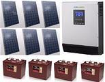 1,6 Kw di fotovoltaico OFF-GRID con Inverter 3 KW