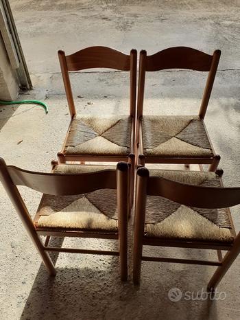 4 sedie in legno