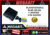 Playstation 3 slim 160Gb + 1 Joypad + 18 giochi