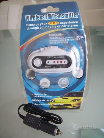 Trasmettitore radio FM Wireless Mp3 autoalimentato