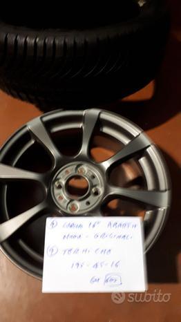 Cerchi lega 16pneumatici invernali Fiat 500 Abarth
