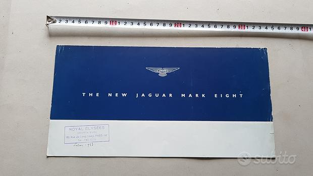 Jaguar Mark Eight 1956 depliant originale brochure