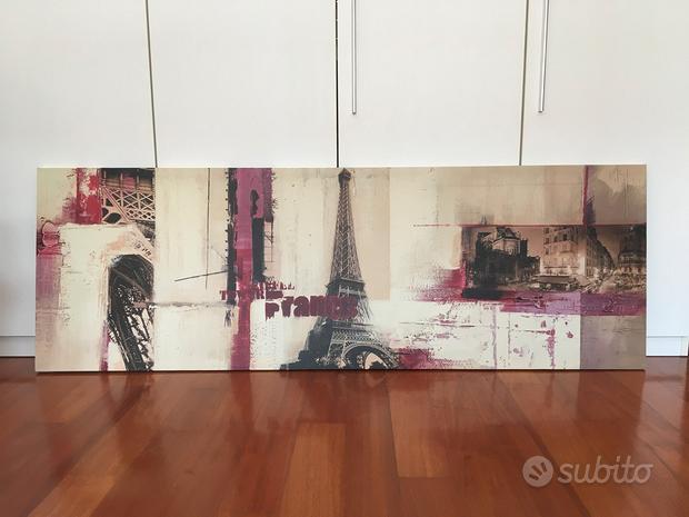 Quadro Parigi in Tela Stampata 150x50,5 cm