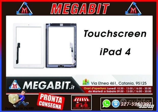 Touchscreen per IPAD 4 BIANCO,NERO SUPER QUALITA'