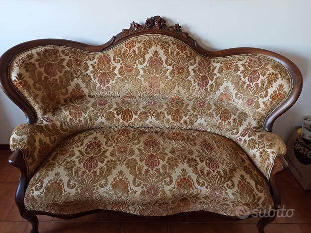 Salotto Luigi Filippo con divano e poltrona