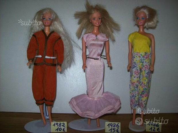 Barbie abiti anni 70 e 80