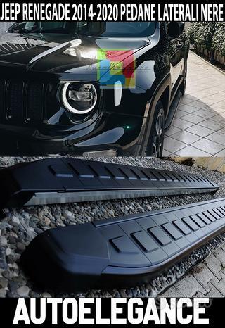 Pedane laterali nere - jeep renegade 2014+