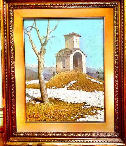 Quadro dipinto di Lucio Lecchi, olio su masonite