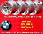 4 Cerchi BMW/Opel Minilite 8x13 4x100 ET-6 TUV