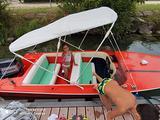 Barca con carello 75cv envirrude 2t