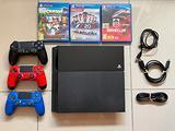 PS4 500gb + 3 Joypad Originali Sony + 3 giochi