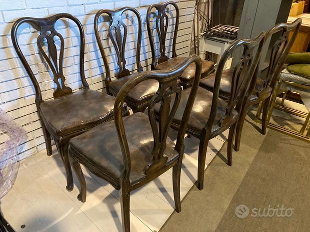 Sei sedie anni 50 Chippendale