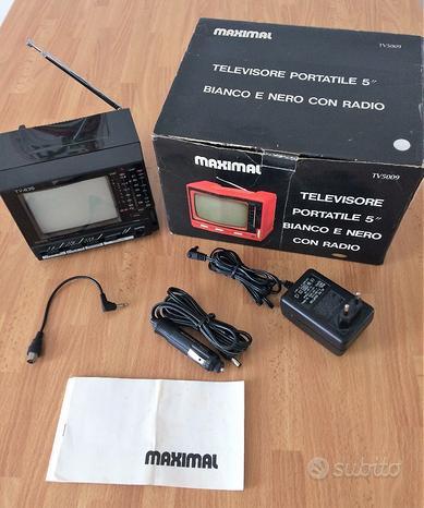 "Televisore portatile vhf-uhf crt 5""con radio fm-am"