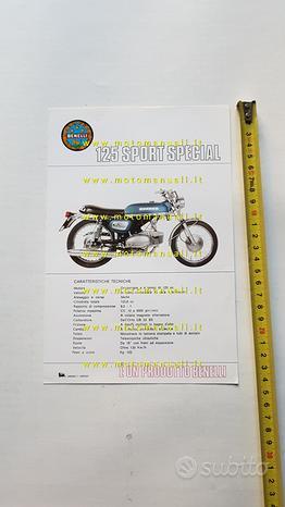 Benelli 125 Sport Special 1972 depliant originale