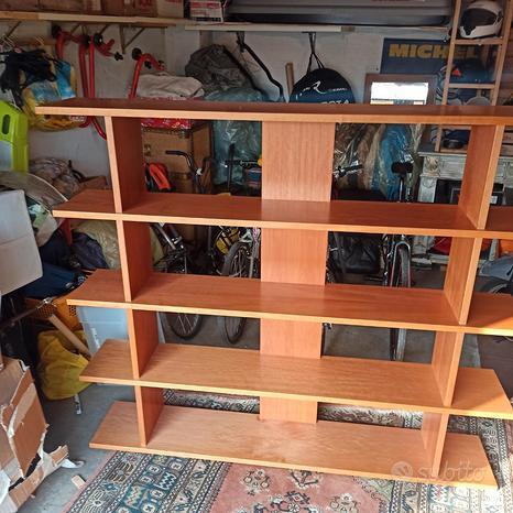 Coppia di librerie in legno
