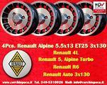 4 Cerchi Renault 4 5 6 Alpine R4 R5 Turbo R6 TUV
