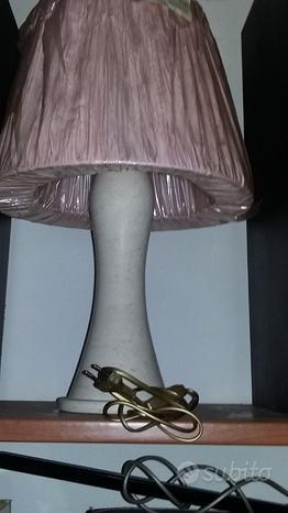Lampada con piedistallo vero marmo