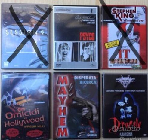 DVD , thriller e horror