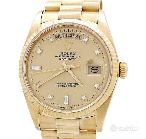 Rolex Day Date18038 Oro Diamonds Champagne Dial