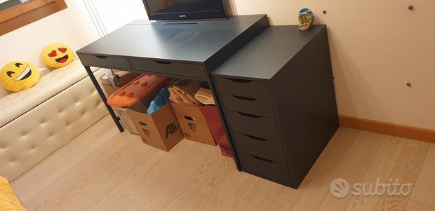 Scrivania Ikea Alex bku più cassettiera