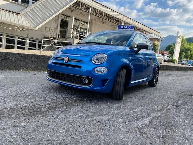 Fiat 500s hybrid 2021/km0/applecar/azzurroitalia