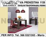 Tavolo Consolle Roma VE112 con 3 ALLUNGHE L= 190cm