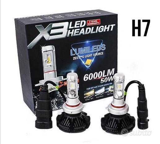 H7/H4 Coppia led X3 philips 6500k