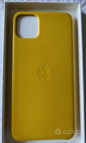 Cover ORIGINALE iPhone 11 Pro Max in pelle gialla